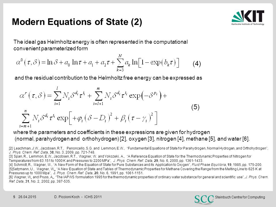 Modern Equations of State (2)
