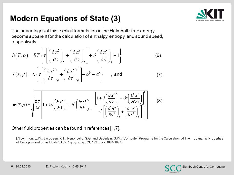 Modern Equations of State (3)