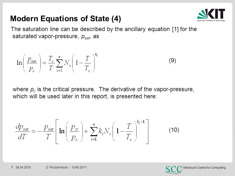 Modern Equations of State (4)