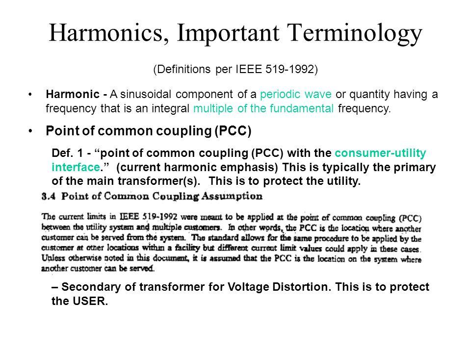 Harmonics, Important Terminology