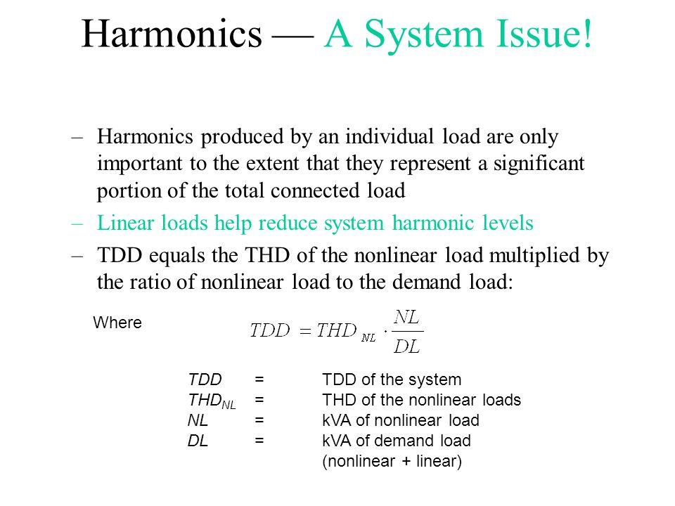 Harmonics — A System Issue!