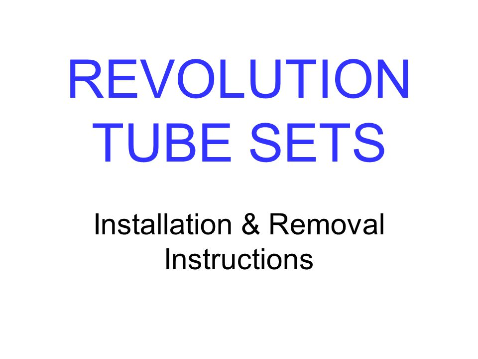 Installation & Removal Instructions