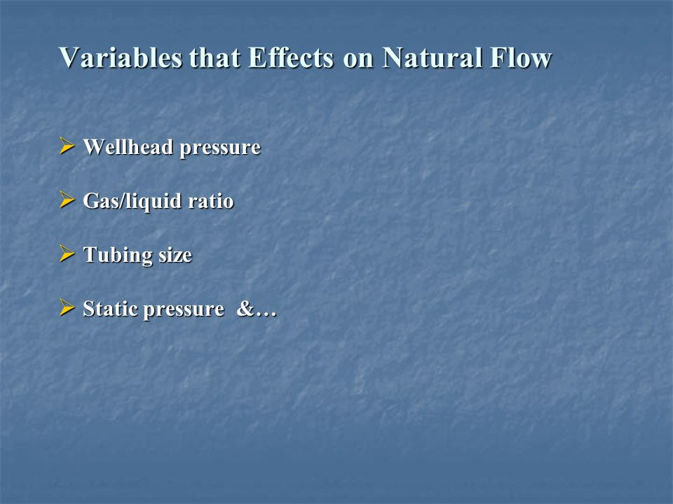 Variables that Effects on Natural Flow