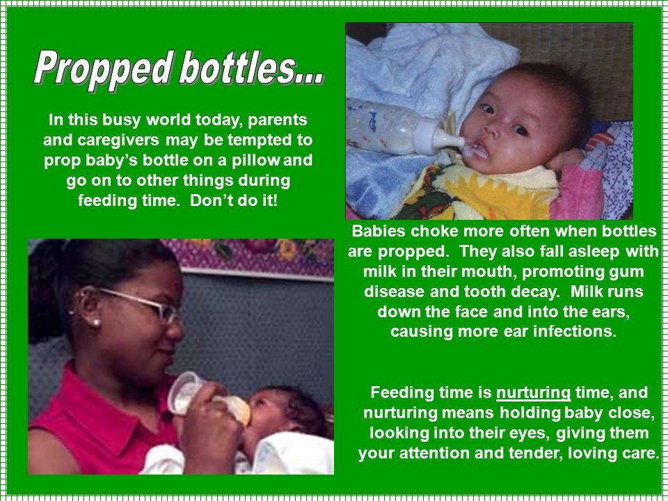 Propped bottles...