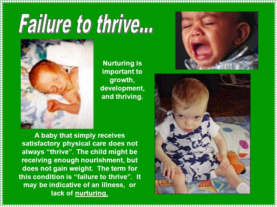 Nurturing is important to growth, development, and thriving.