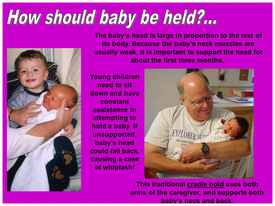 How should baby be held ...