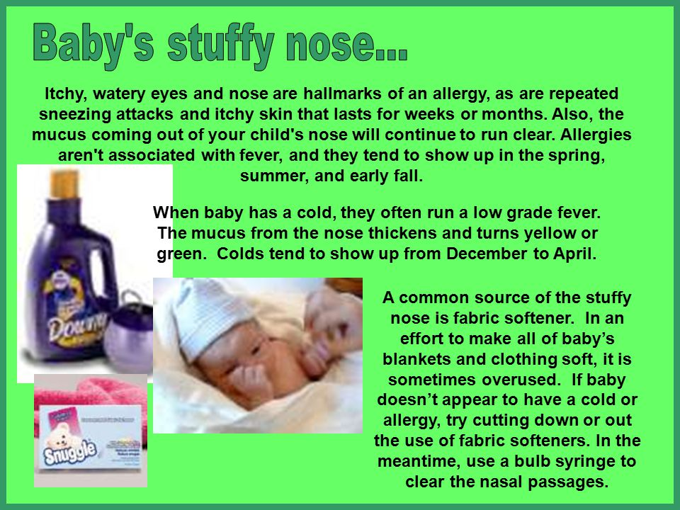 Baby s stuffy nose...