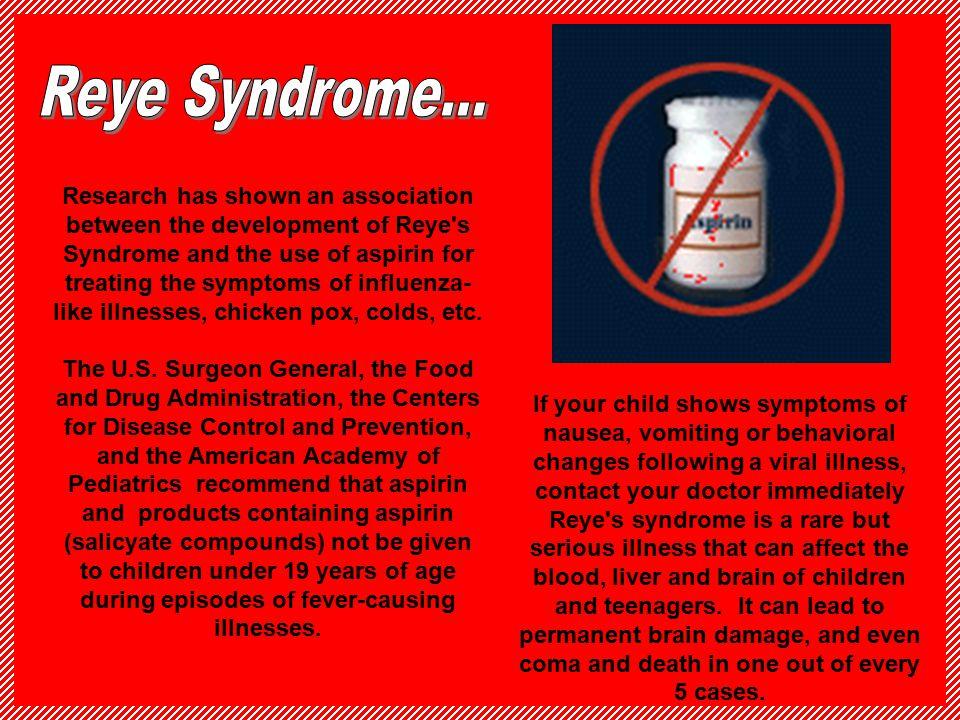 Reye Syndrome...
