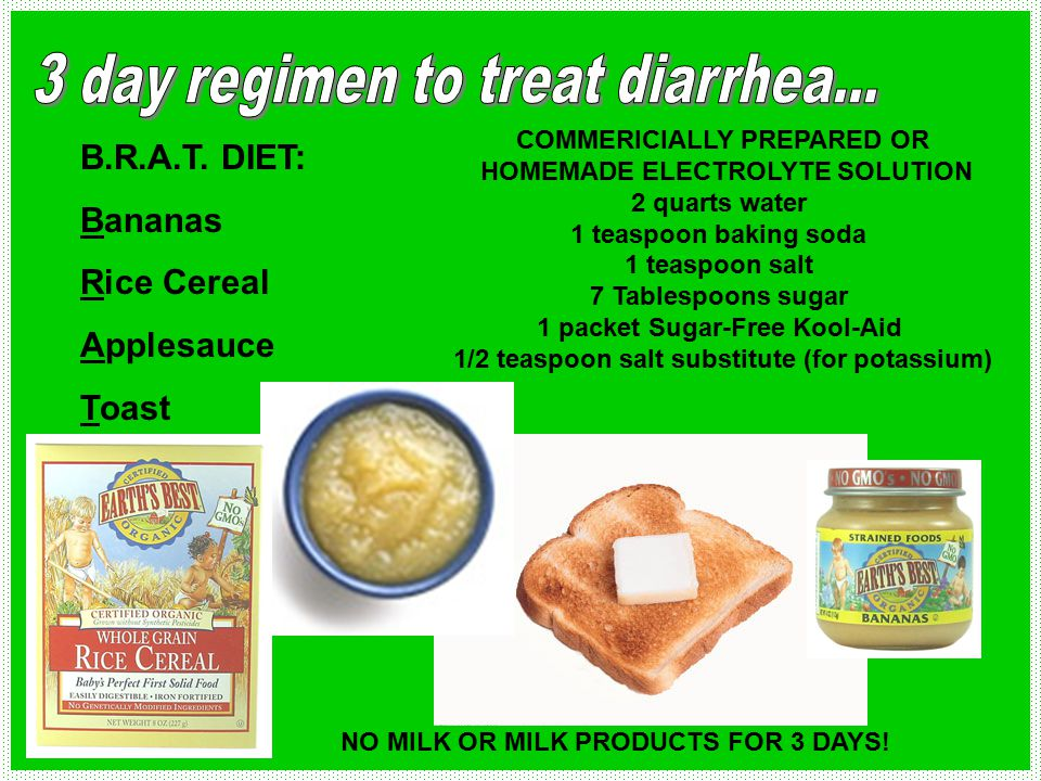 3 day regimen to treat diarrhea...