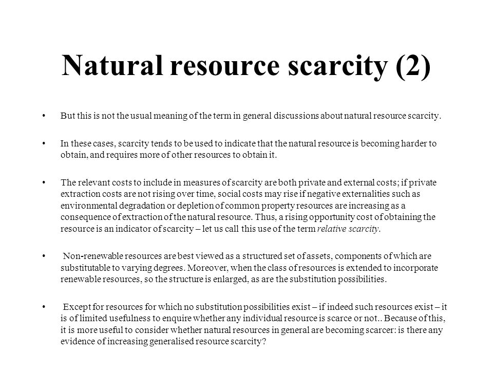 Natural resource scarcity (2)