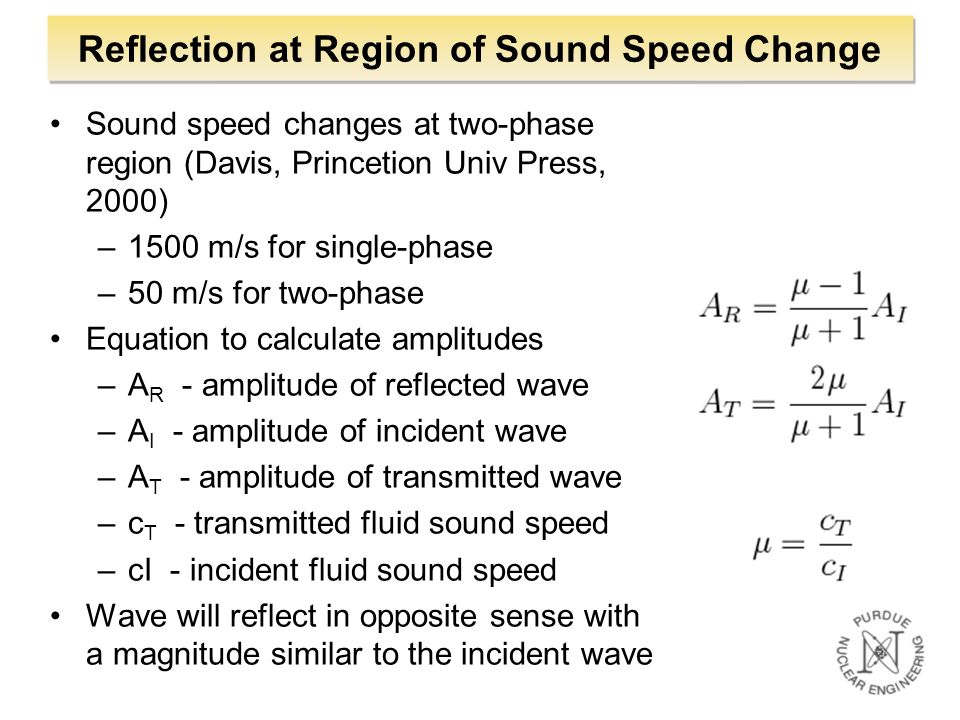 Reflection at Region of Sound Speed Change
