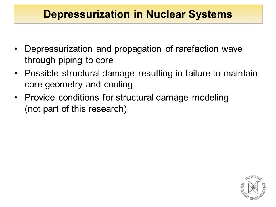 Depressurization in Nuclear Systems