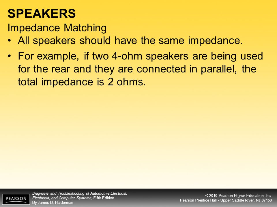 SPEAKERS Impedance Matching
