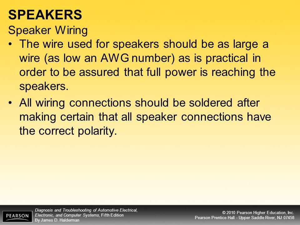 SPEAKERS Speaker Wiring
