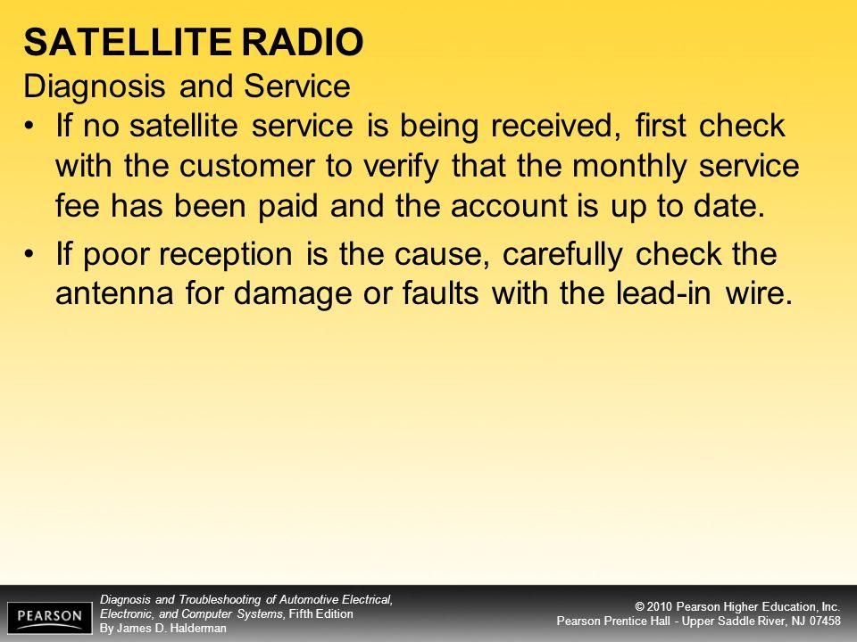 SATELLITE RADIO Diagnosis and Service