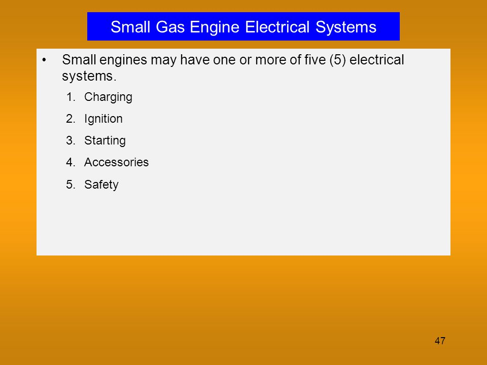 Small Gas Engine Electrical Systems