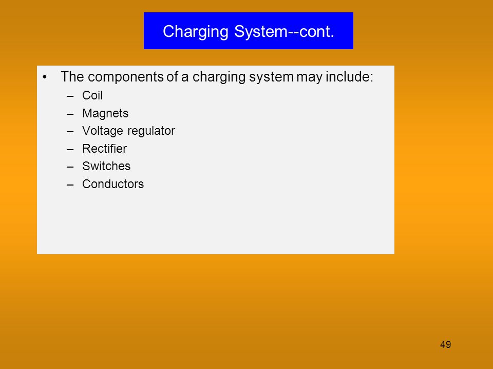 Charging System--cont.
