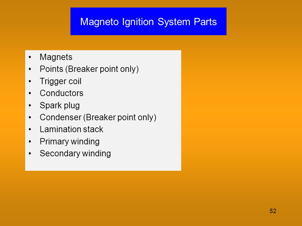 Magneto Ignition System Parts