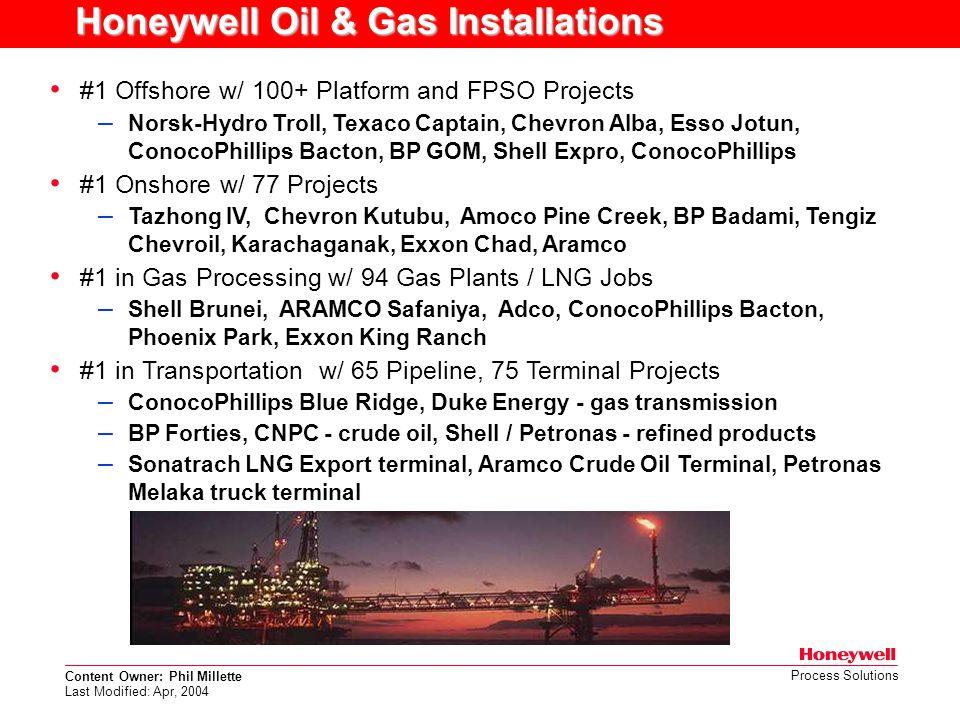 Honeywell Oil & Gas Installations