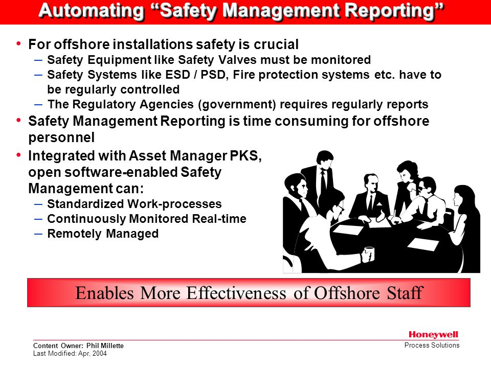 Automating Safety Management Reporting