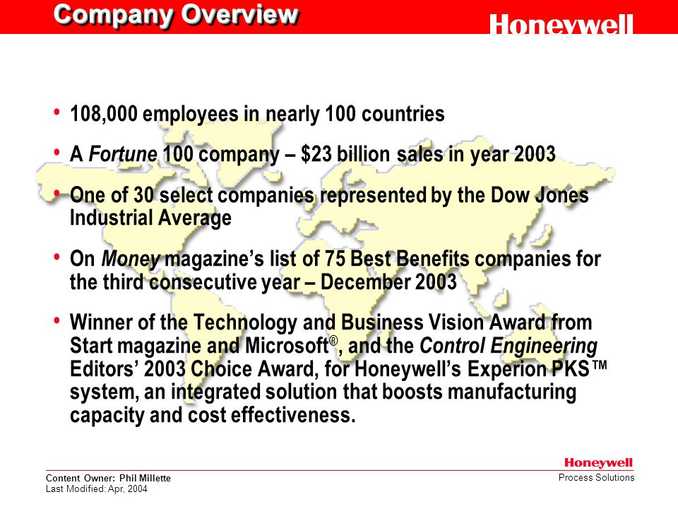 Company Overview 108,000 employees in nearly 100 countries