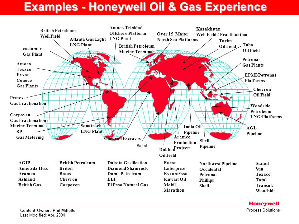 Examples - Honeywell Oil & Gas Experience