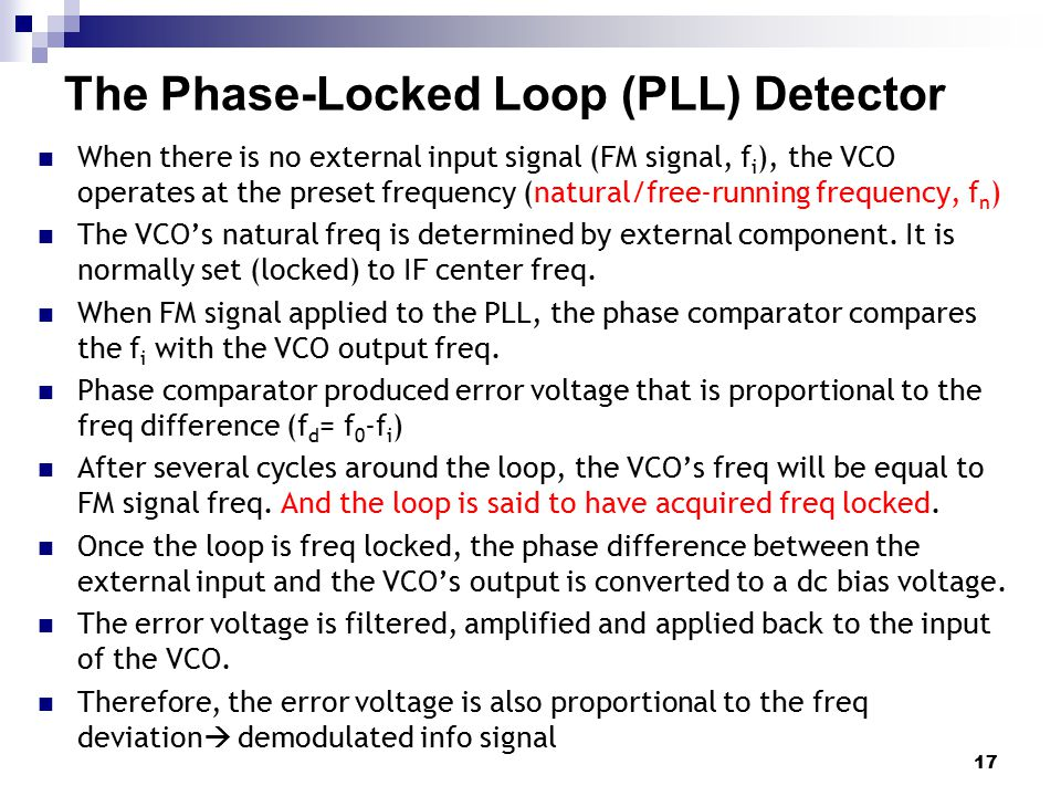 The Phase-Locked Loop (PLL) Detector