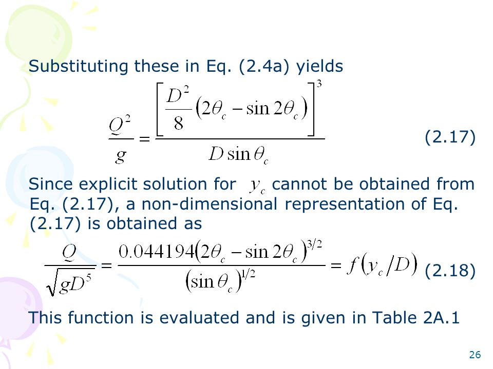 Substituting these in Eq. (2.4a) yields