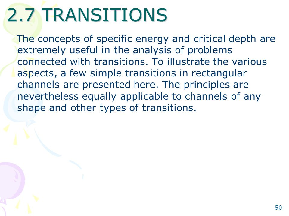 2.7 TRANSITIONS