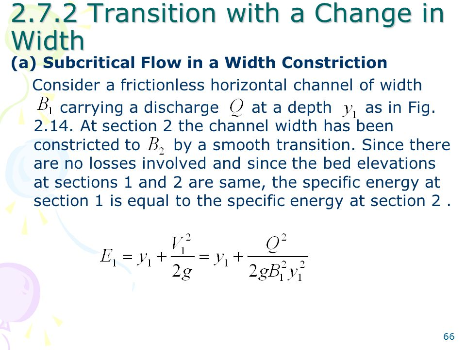 2.7.2 Transition with a Change in Width