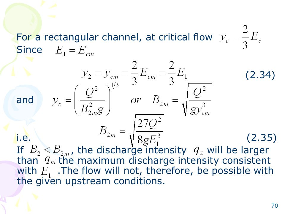 For a rectangular channel, at critical flow