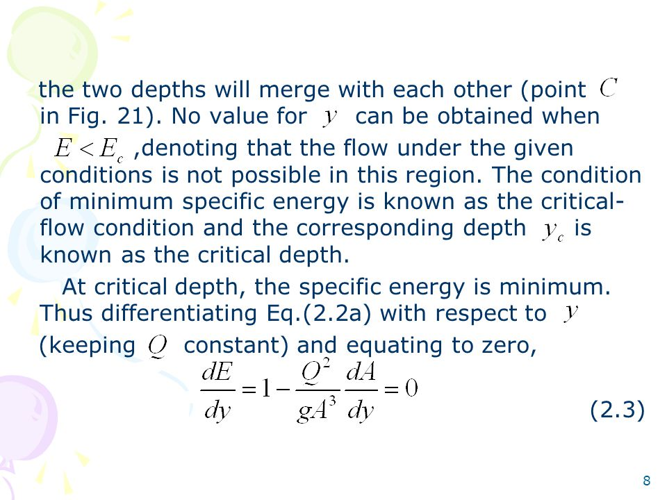 the two depths will merge with each other (point in Fig. 21)
