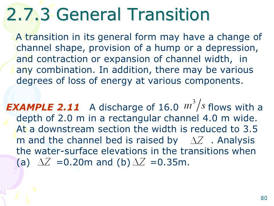 2.7.3 General Transition