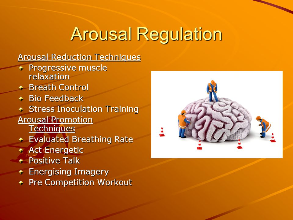 Arousal Regulation Arousal Reduction Techniques