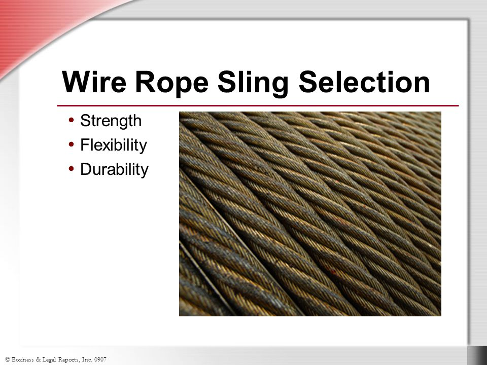 Wire Rope Sling Selection
