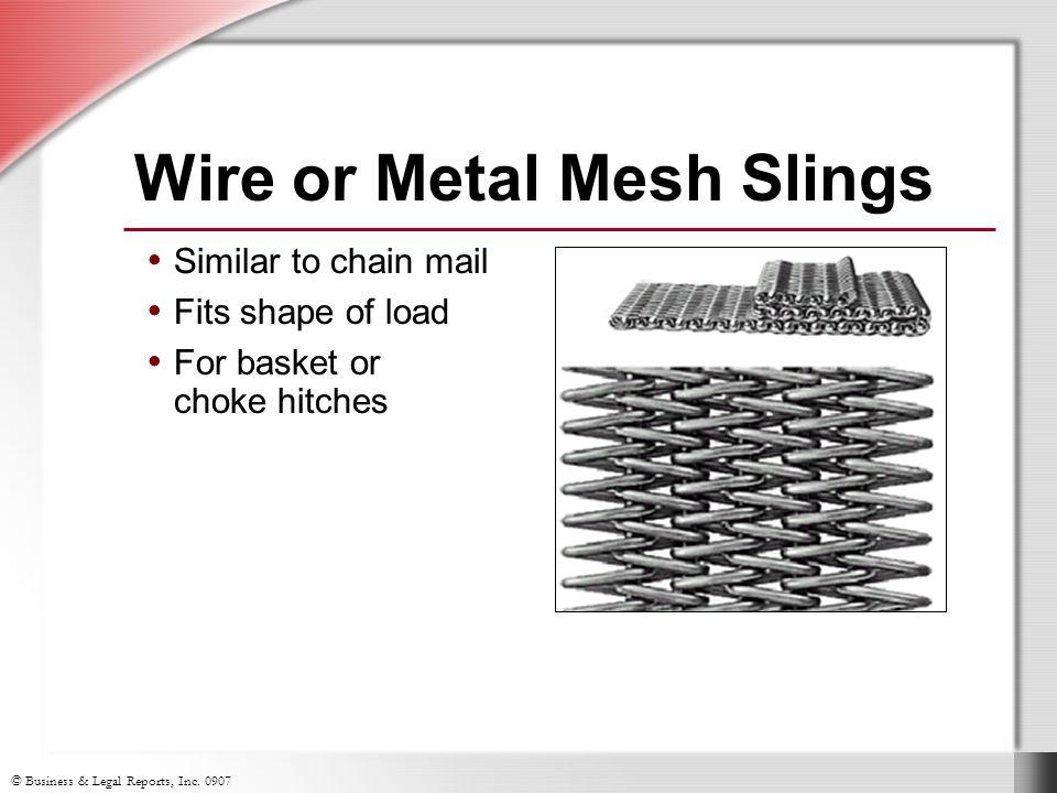 Wire or Metal Mesh Slings