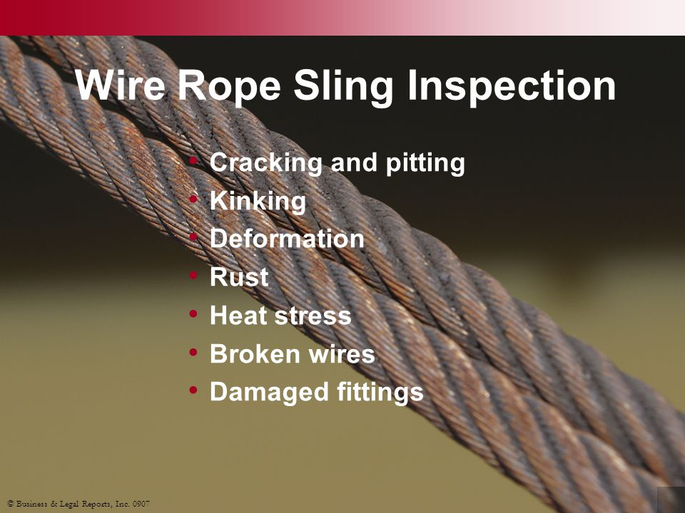 Wire Rope Sling Inspection