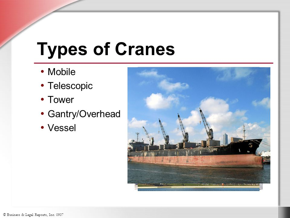 Types Of Mobile Cranes : Crane rigging slide show notes ppt download