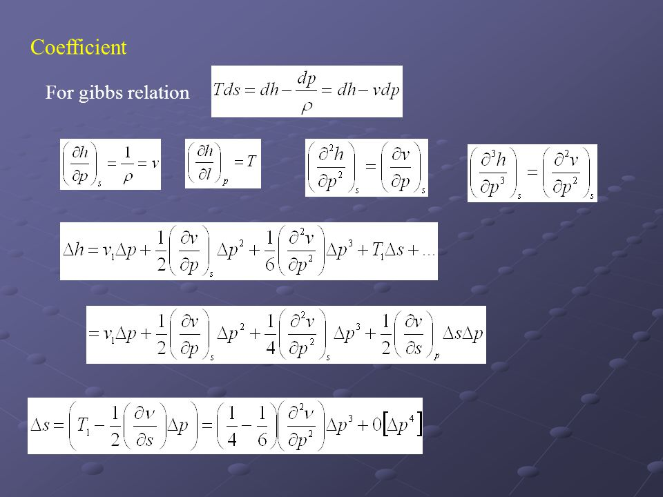 Coefficient For gibbs relation