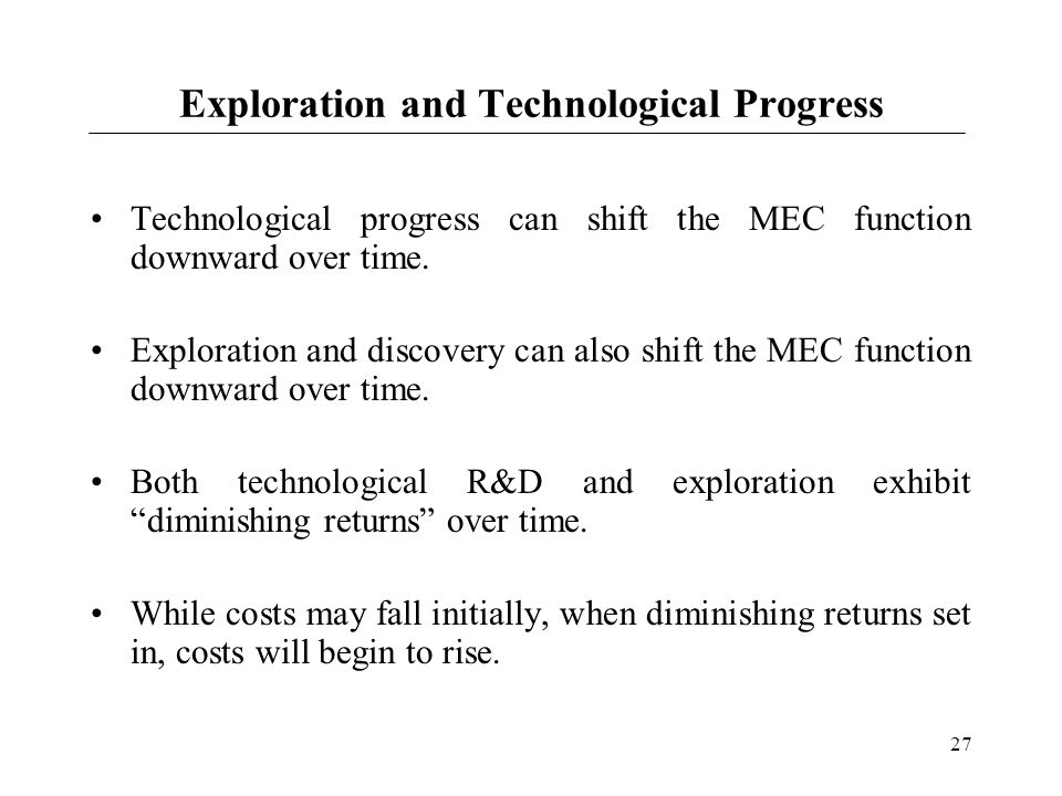 Exploration and Technological Progress