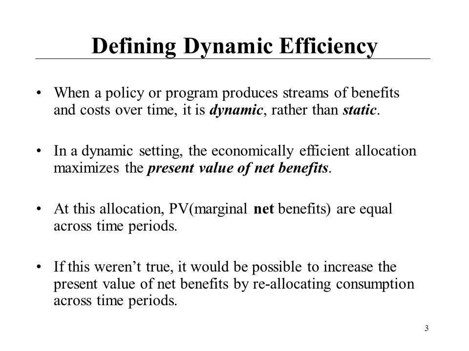 Defining Dynamic Efficiency