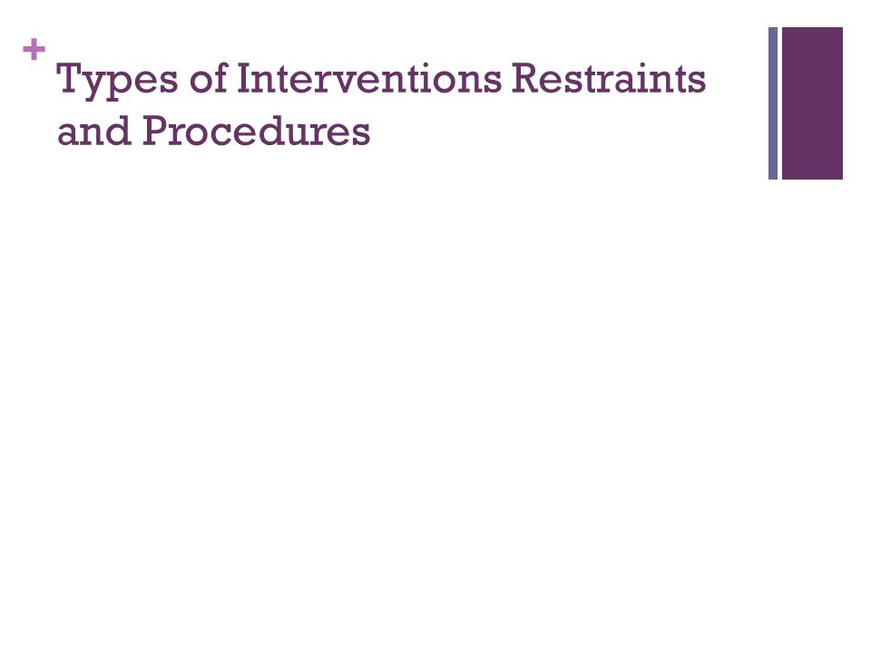 Types of Interventions Restraints and Procedures