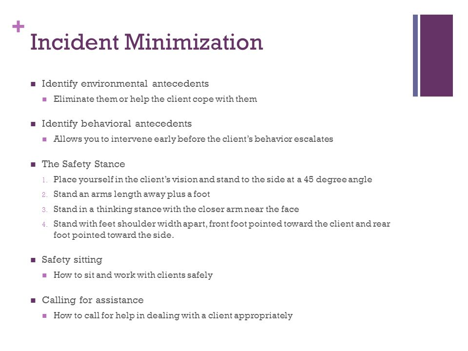 Incident Minimization