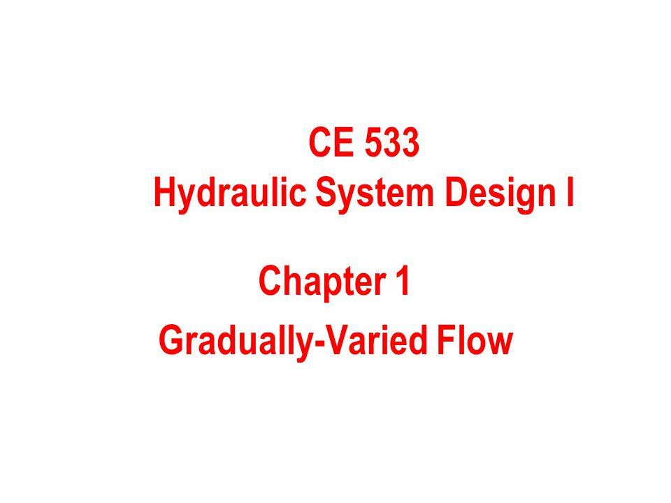 Chapter 1 Gradually-Varied Flow