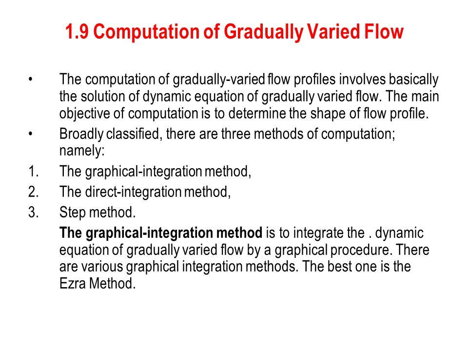 1.9 Computation of Gradually Varied Flow