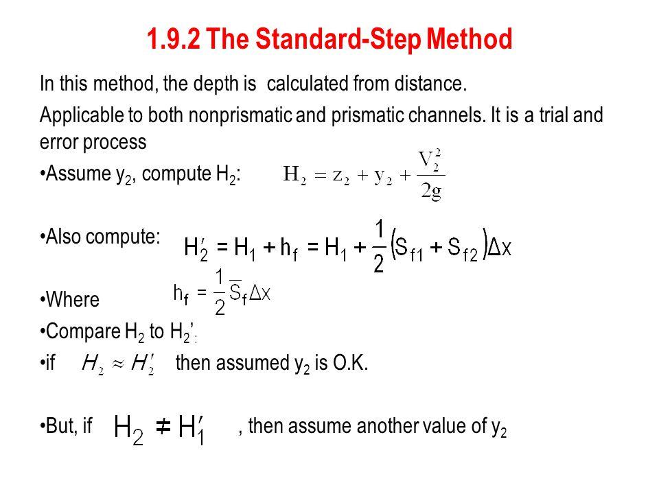 1.9.2 The Standard-Step Method