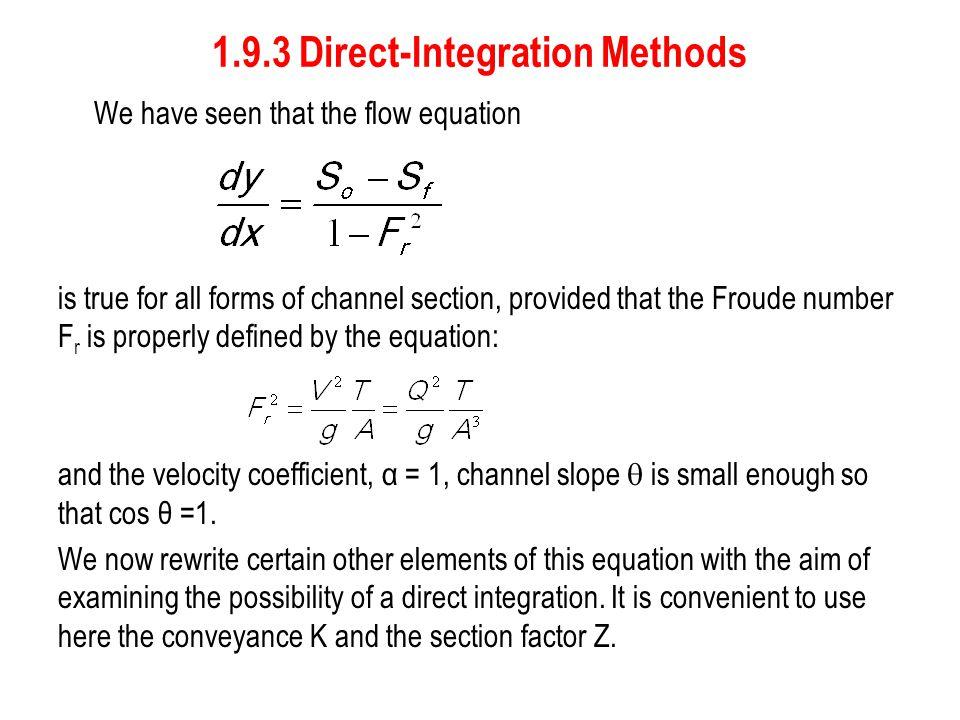 1.9.3 Direct-Integration Methods