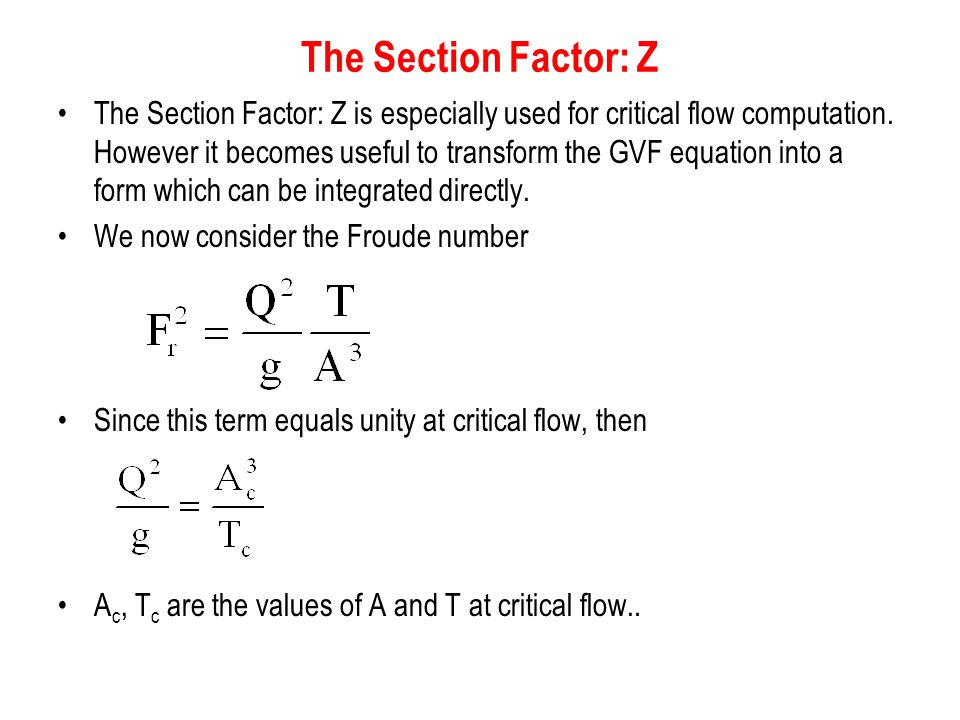 The Section Factor: Z