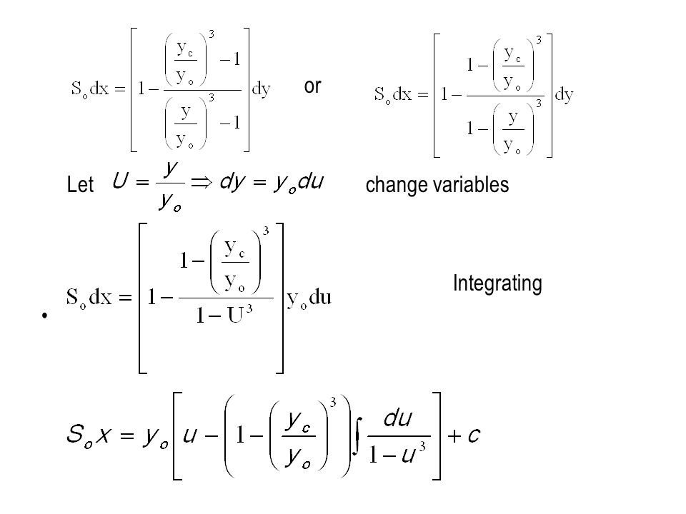 or Let change variables Integrating