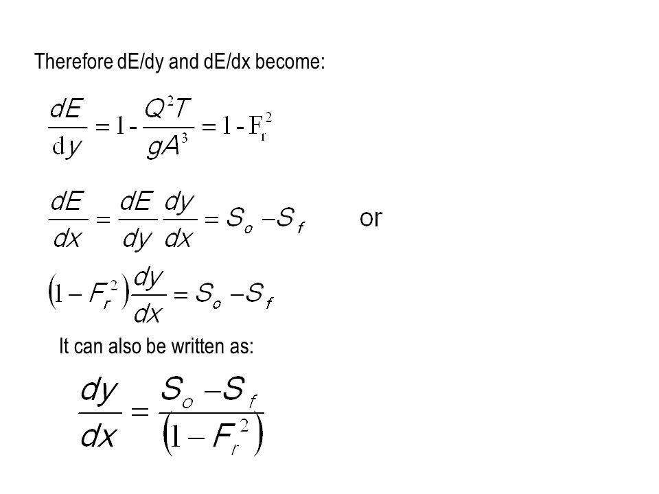 Therefore dE/dy and dE/dx become: